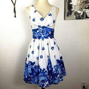 Betsey Johnson Floral Fit & Flare Sleeveless Dress